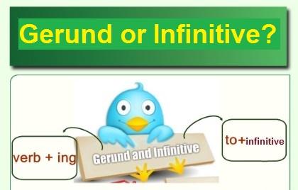 Gerund or infinitive? Герундій чи інфінітив? - онлайн ігри, таблиці, вправи
