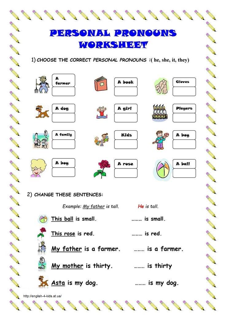 1) Оберіть правильний особовий займенник. 2) Змініть речення, використовуючи особовий займенник замість іменника.
