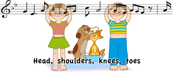 Head, shoulder, knees and toes - дитяча пісенька англійською відео, слова і переклад