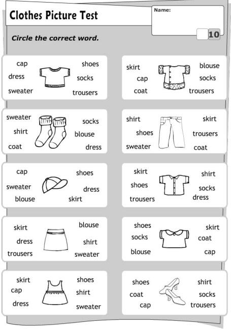 Обведіть правильне слово - який одяг зображений?