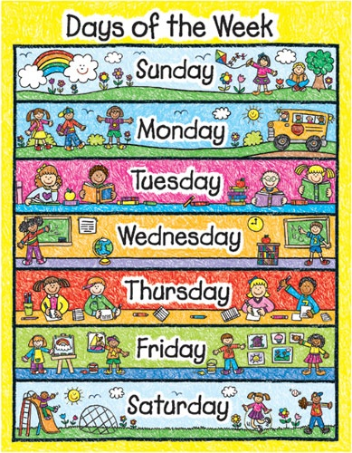 Days of the Week (Дні тижня англійською)