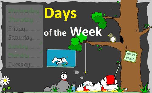 Days of the Week (Дні тижня) - онлайн гра