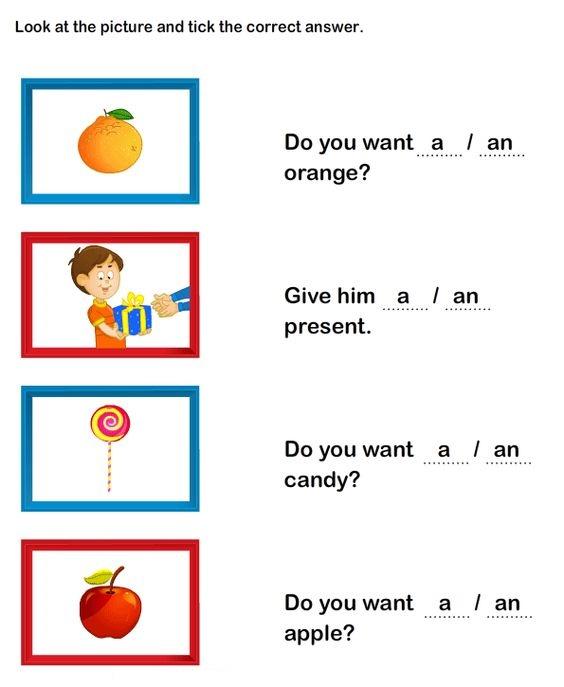 """Обведіть правильний неозначений артикль - """"a"""" чи """"an"""""""