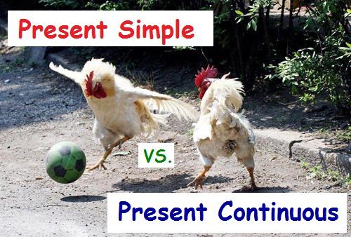 Відмінності між Present Simple і Present Continuous (Теперішнім простим і тривалим часом)