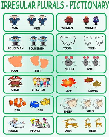 Утворення множини іменників в англійській мові - неправильні іменники (Irregular plurals)