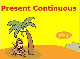 """Інтерактивна онлайн гра на тему """"Present Continuous - Теперішній тривалий час в англійській мові"""""""