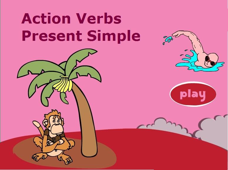 Present Simple Tense Action Verbs (Простий теперішній час)