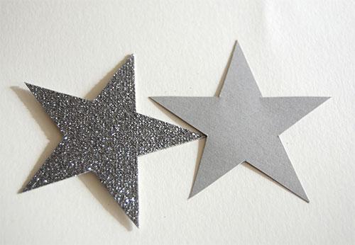 Приклад вирізаних з картону зірок