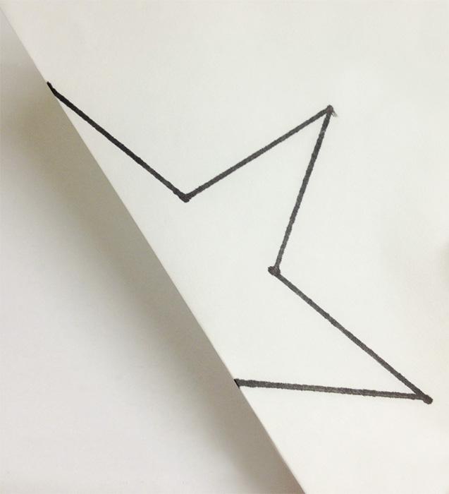 Щоб у зірочки вийшли симетричні межі, можна скласти шаблон навпіл